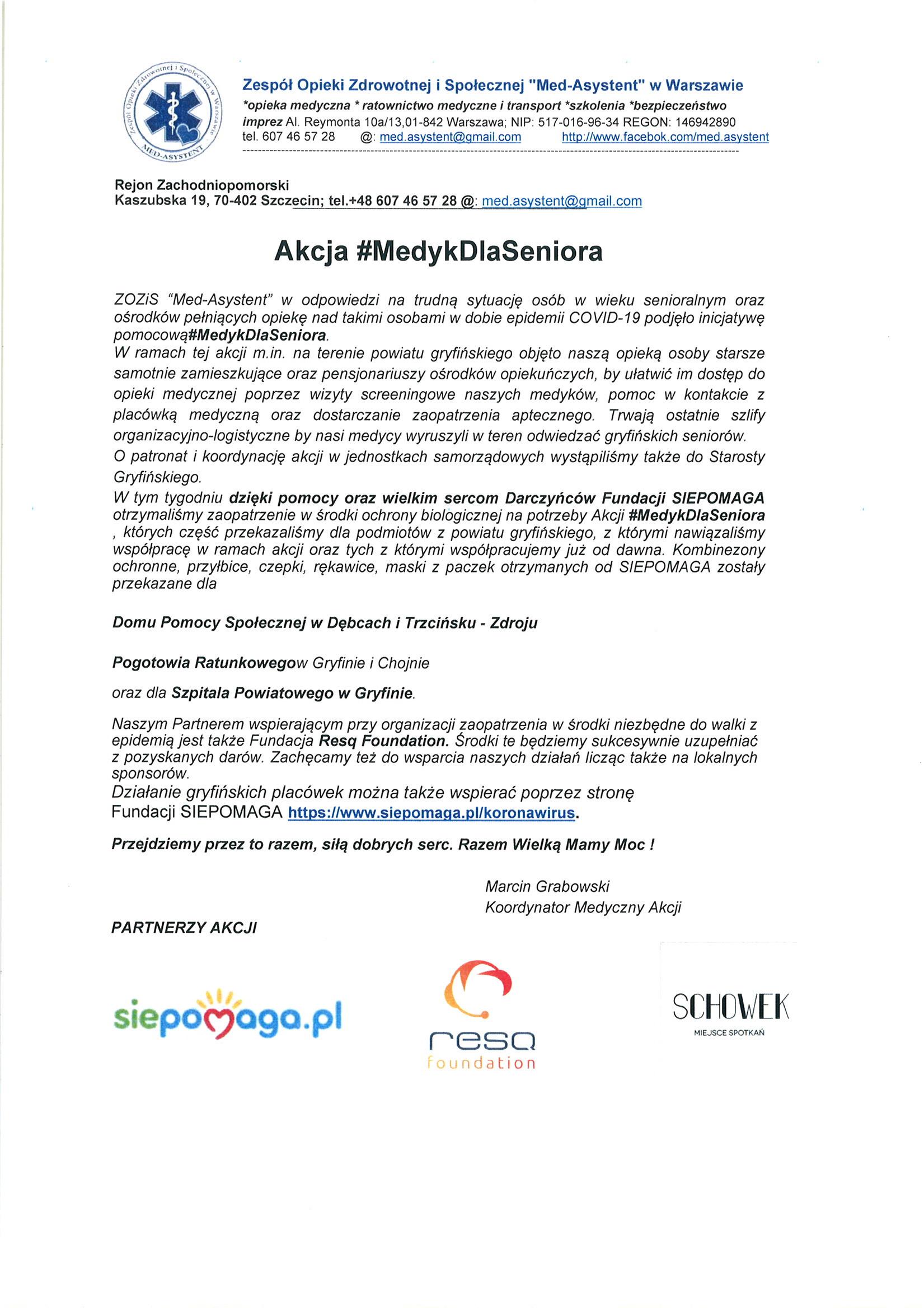 Akcja MedykDlaSeniora